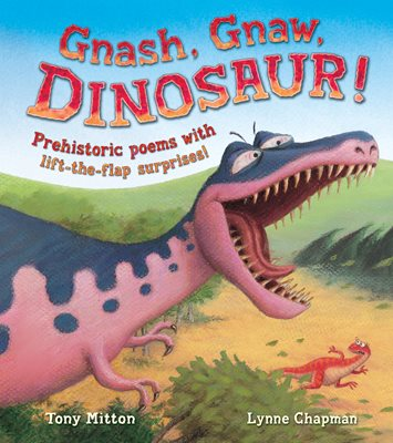 Book cover for Gnash, Gnaw, DINOSAUR!