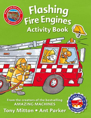 Amazing Machines Flashing Fire Engines Activity Book