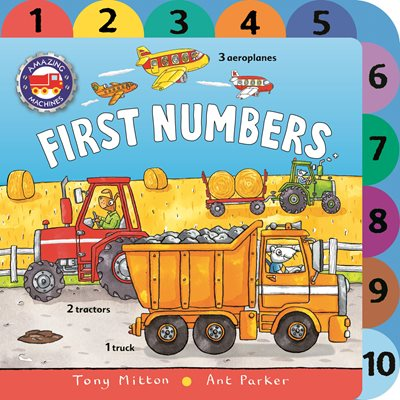 Book cover for Amazing Machines First Numbers