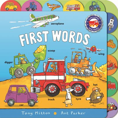 Book cover for Amazing Machines First Words