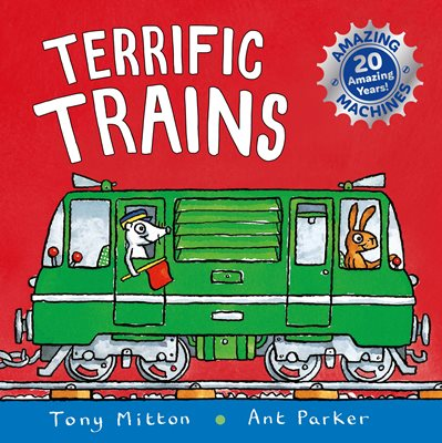 Book cover for Amazing Machines: Terrific Trains
